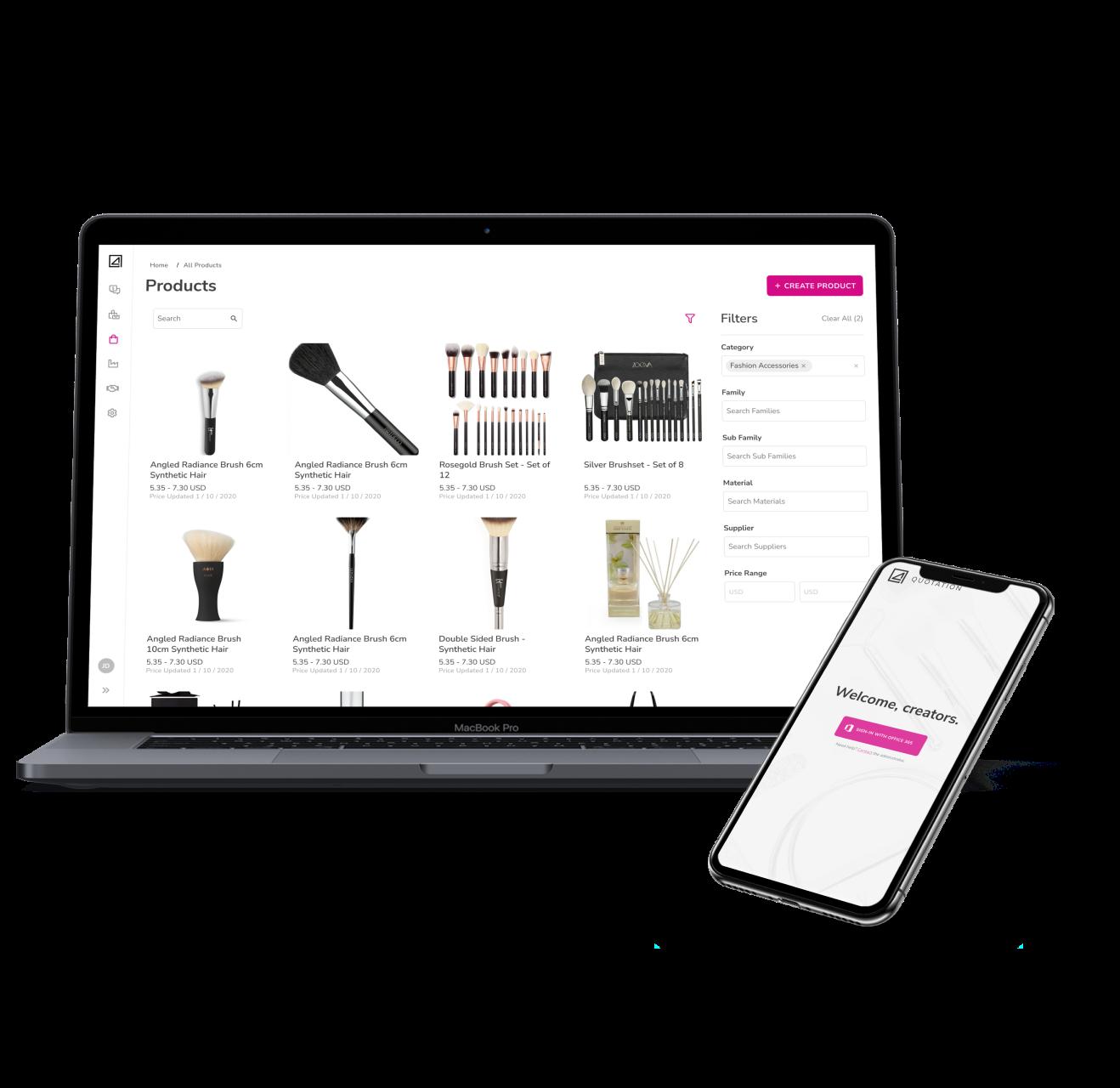 concept4 app, retail app, sourcing app